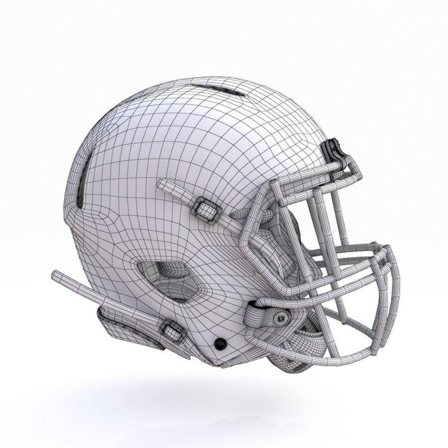 Casque de football américain royalty-free 3d model - Preview no. 14