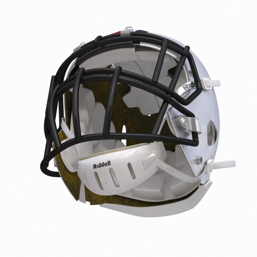 Casque de football américain royalty-free 3d model - Preview no. 10
