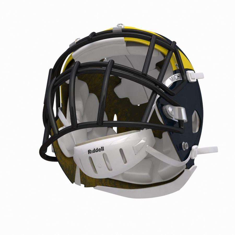 Casque de football américain royalty-free 3d model - Preview no. 5