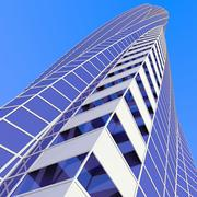 未来派的摩天大楼 3d model