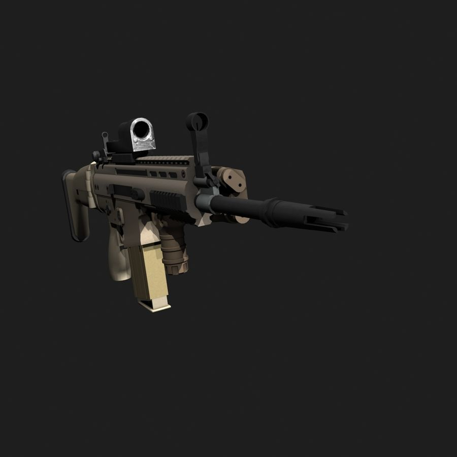 SCAR-H royalty-free 3d model - Preview no. 10