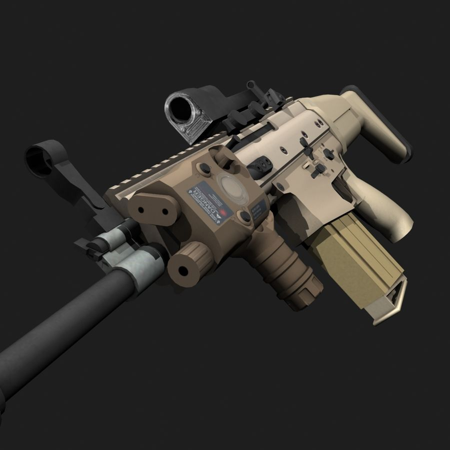 SCAR-H royalty-free 3d model - Preview no. 6