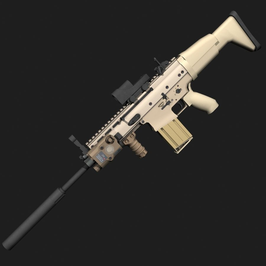 SCAR-H royalty-free 3d model - Preview no. 3