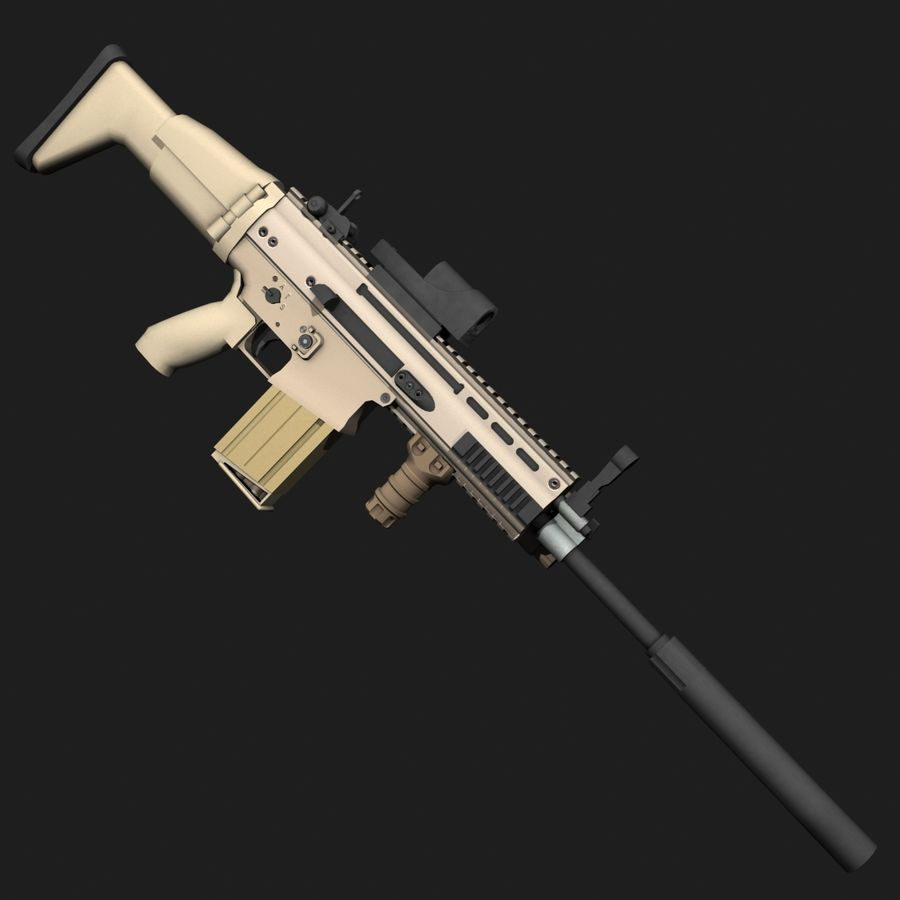 SCAR-H royalty-free 3d model - Preview no. 2