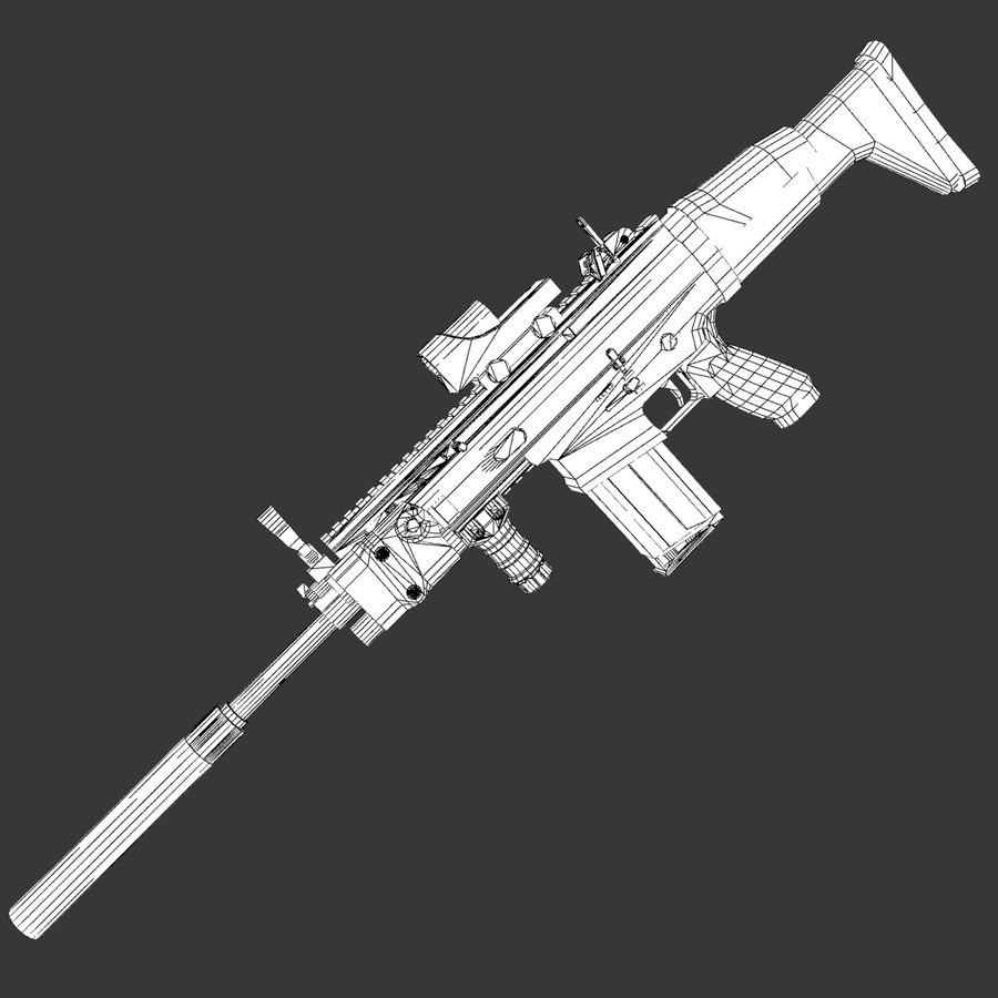 SCAR-H royalty-free 3d model - Preview no. 13