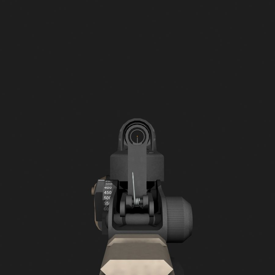 SCAR-H royalty-free 3d model - Preview no. 11