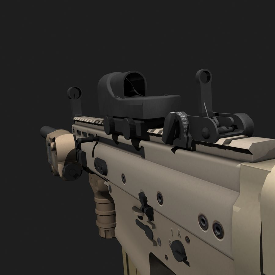 SCAR-H royalty-free 3d model - Preview no. 7