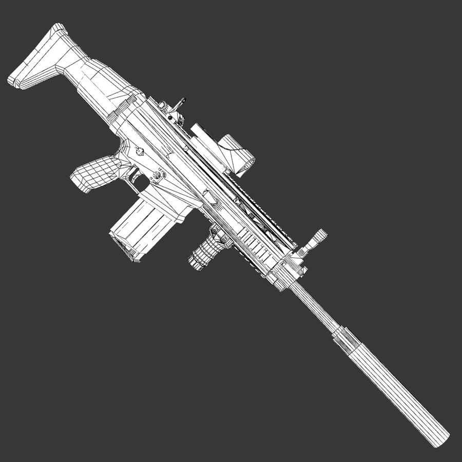 SCAR-H royalty-free 3d model - Preview no. 12