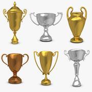 Trophy Cup Set 3d model
