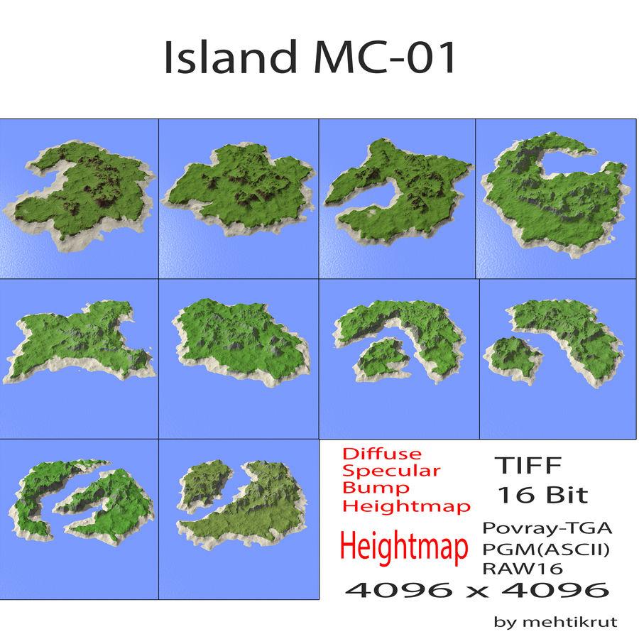 섬 MC-01 royalty-free 3d model - Preview no. 1