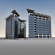 Modern Building 007 3d model