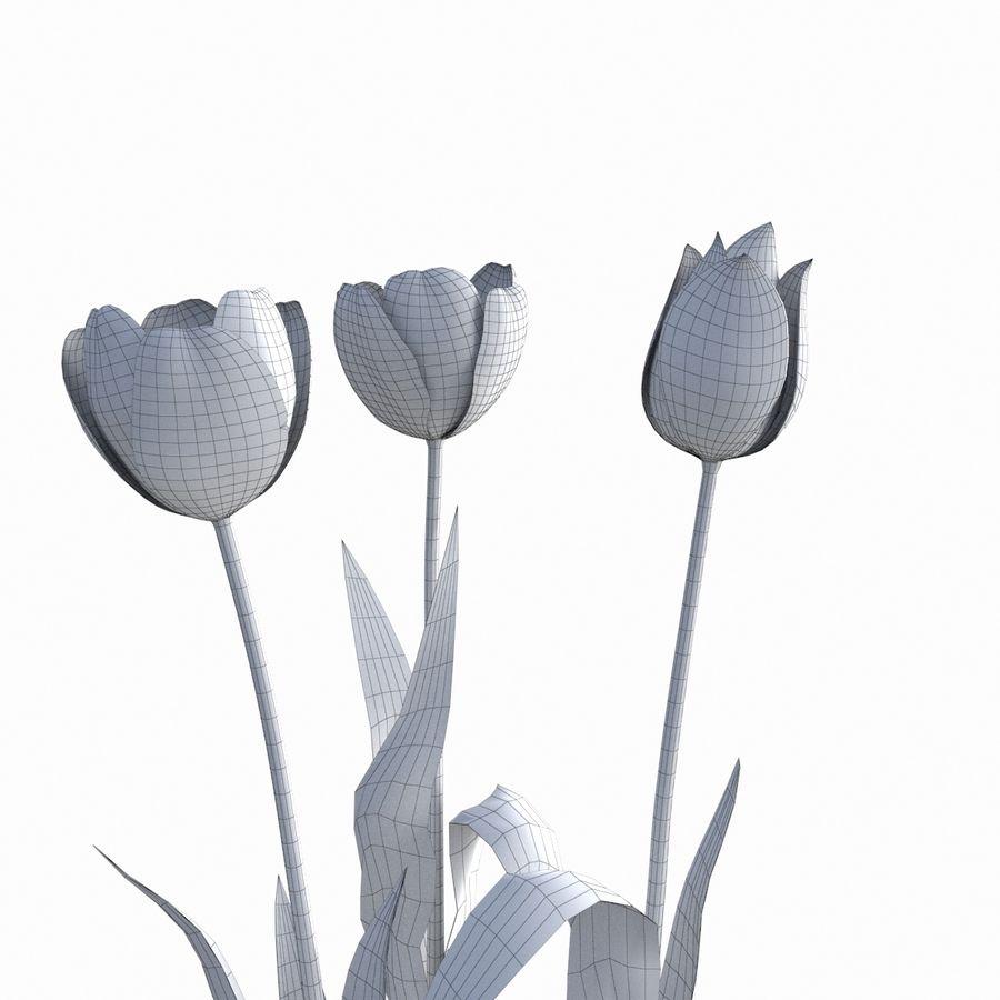 Fleurs de tulipe royalty-free 3d model - Preview no. 9
