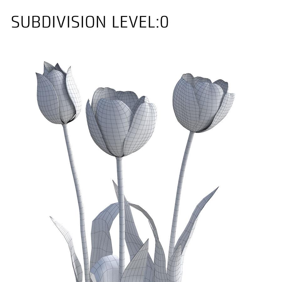 Fleurs de tulipe royalty-free 3d model - Preview no. 7