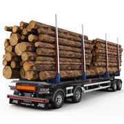 Timber Trailer JYKI 3d model