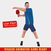 Tafeltennis speler 3d model
