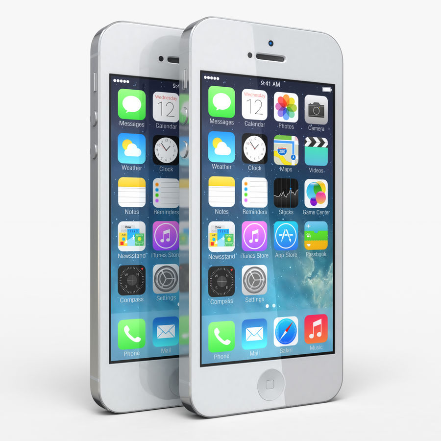 iphone 5 royalty-free 3d model - Preview no. 1