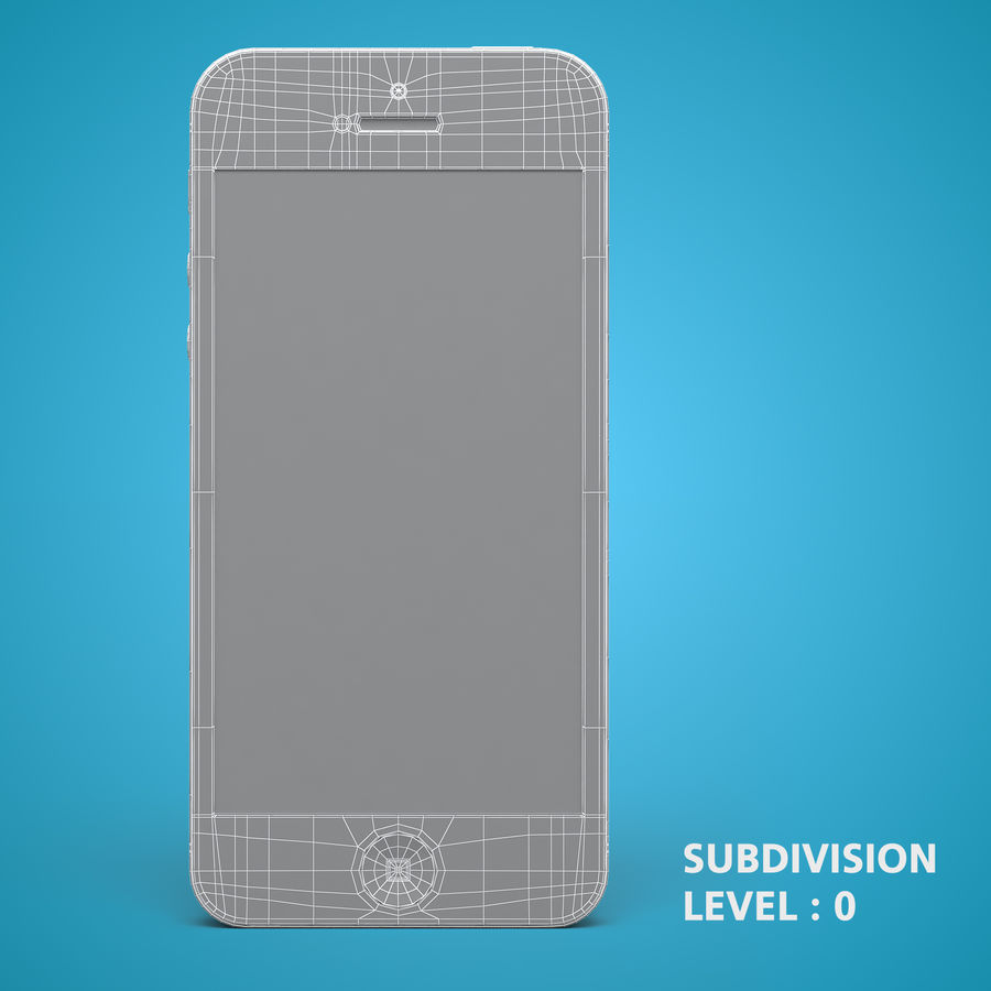 iphone 5 royalty-free 3d model - Preview no. 17