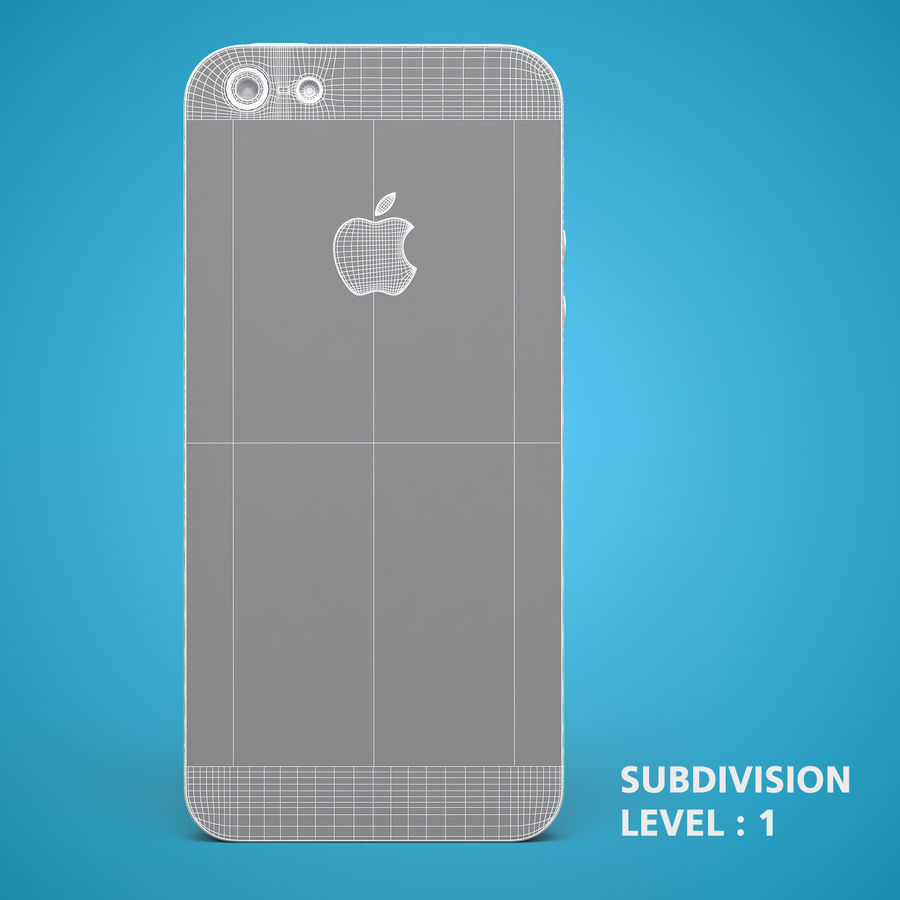 iphone 5 royalty-free 3d model - Preview no. 20