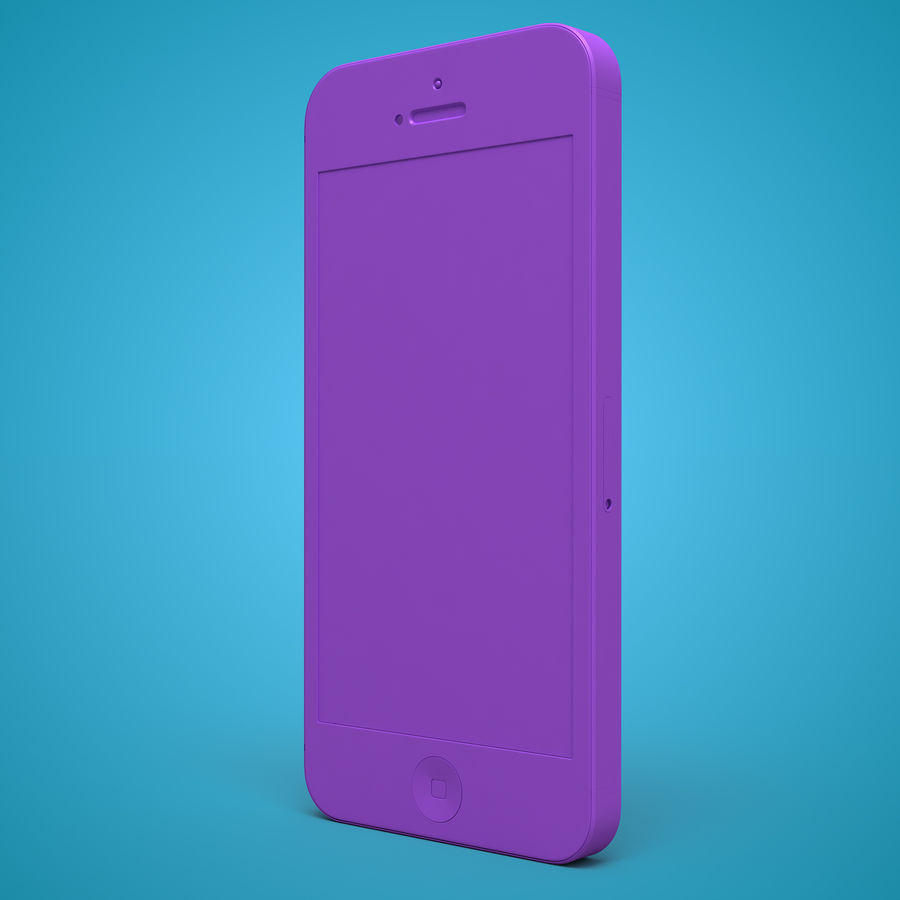 iphone 5 royalty-free 3d model - Preview no. 30