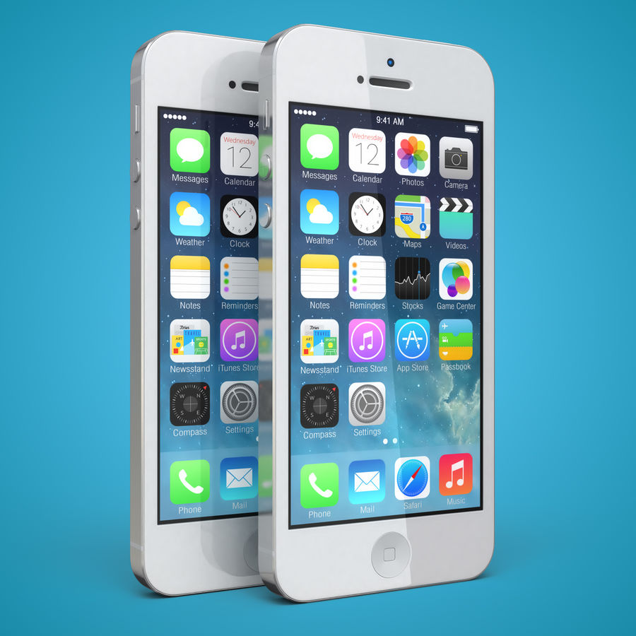 iphone 5 royalty-free 3d model - Preview no. 2