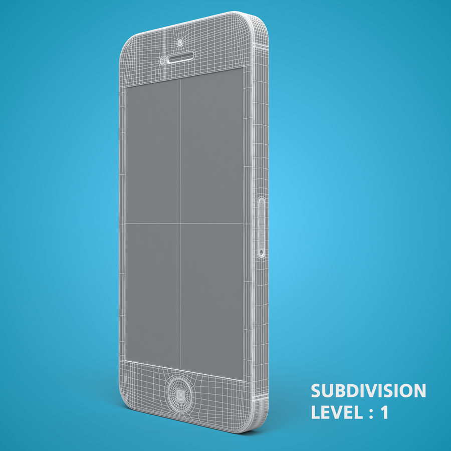 iphone 5 royalty-free 3d model - Preview no. 24