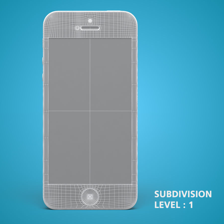 iphone 5 royalty-free 3d model - Preview no. 18
