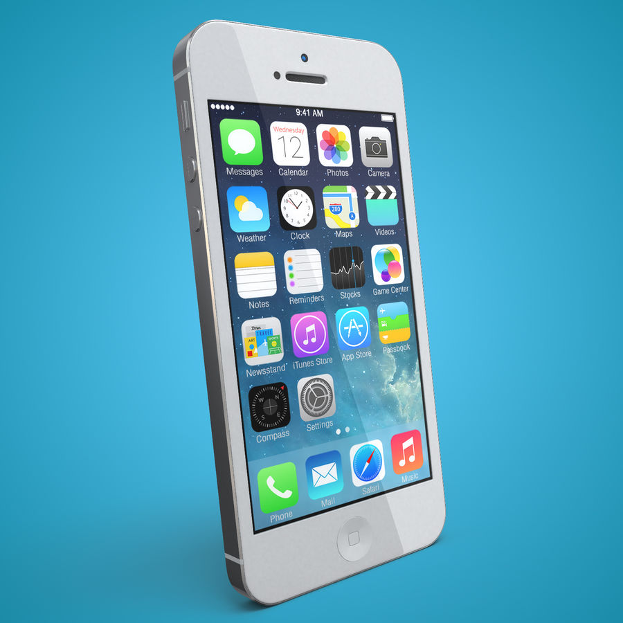 iphone 5 royalty-free 3d model - Preview no. 4