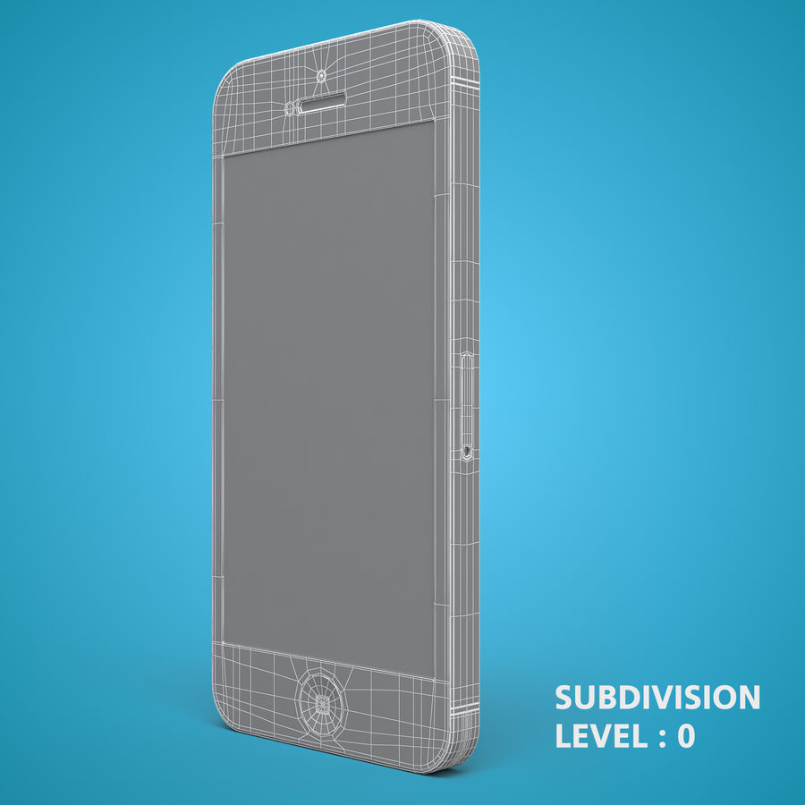 iphone 5 royalty-free 3d model - Preview no. 23