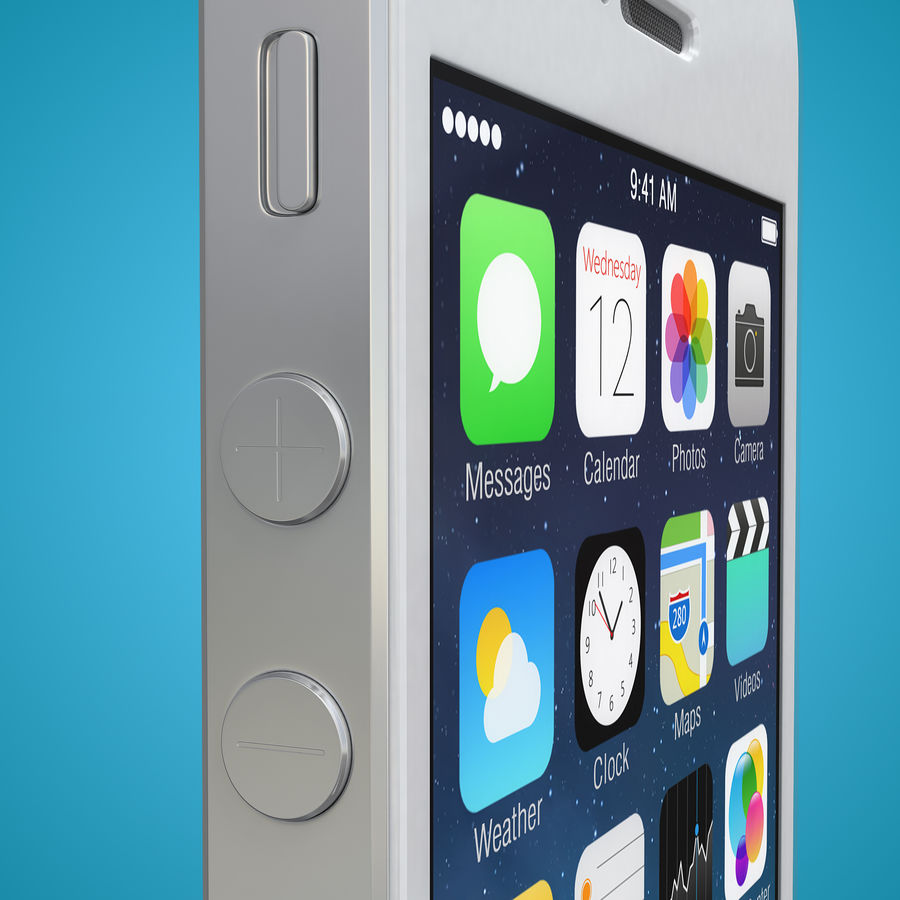 iphone 5 royalty-free 3d model - Preview no. 10