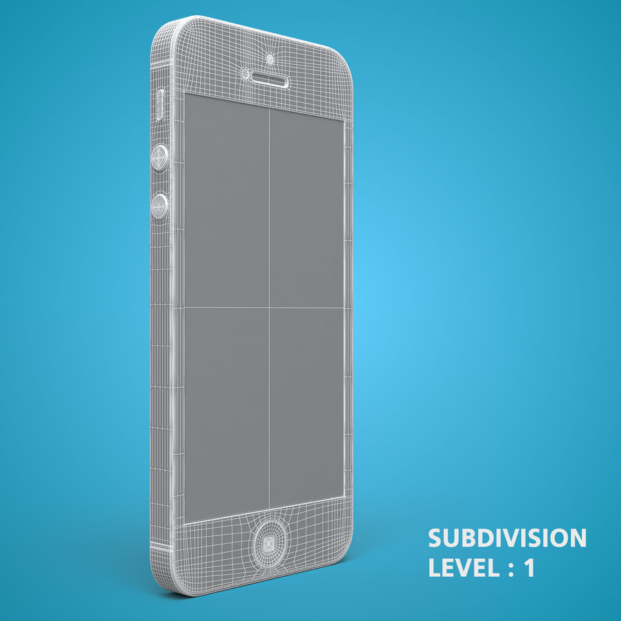 iphone 5 royalty-free 3d model - Preview no. 22
