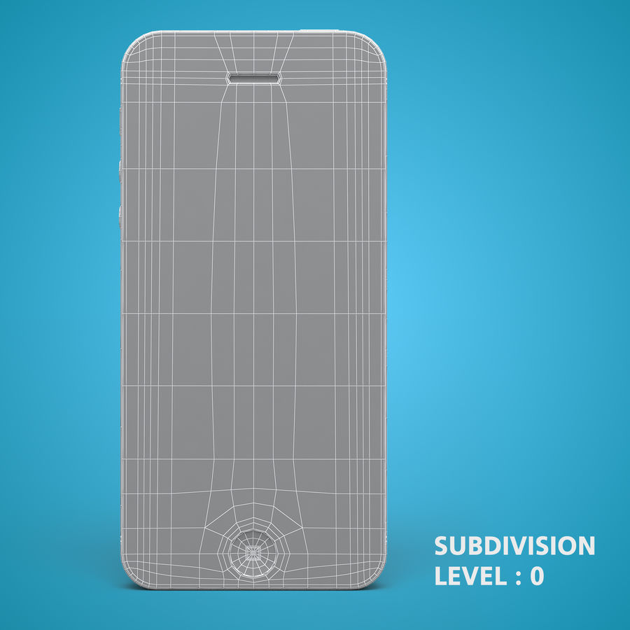 iphone 5 royalty-free 3d model - Preview no. 15