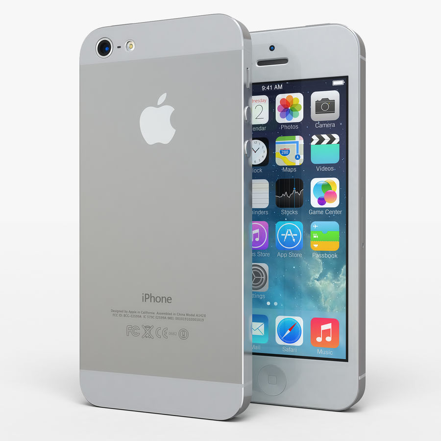 iphone 5 royalty-free 3d model - Preview no. 8