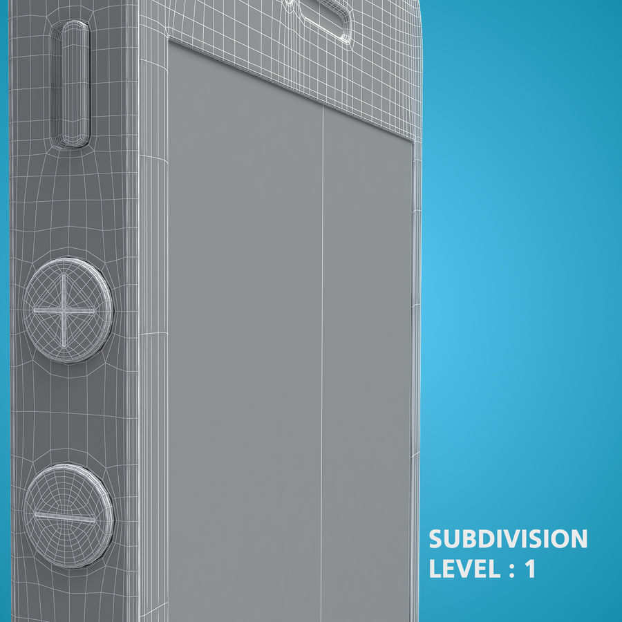 iphone 5 royalty-free 3d model - Preview no. 28