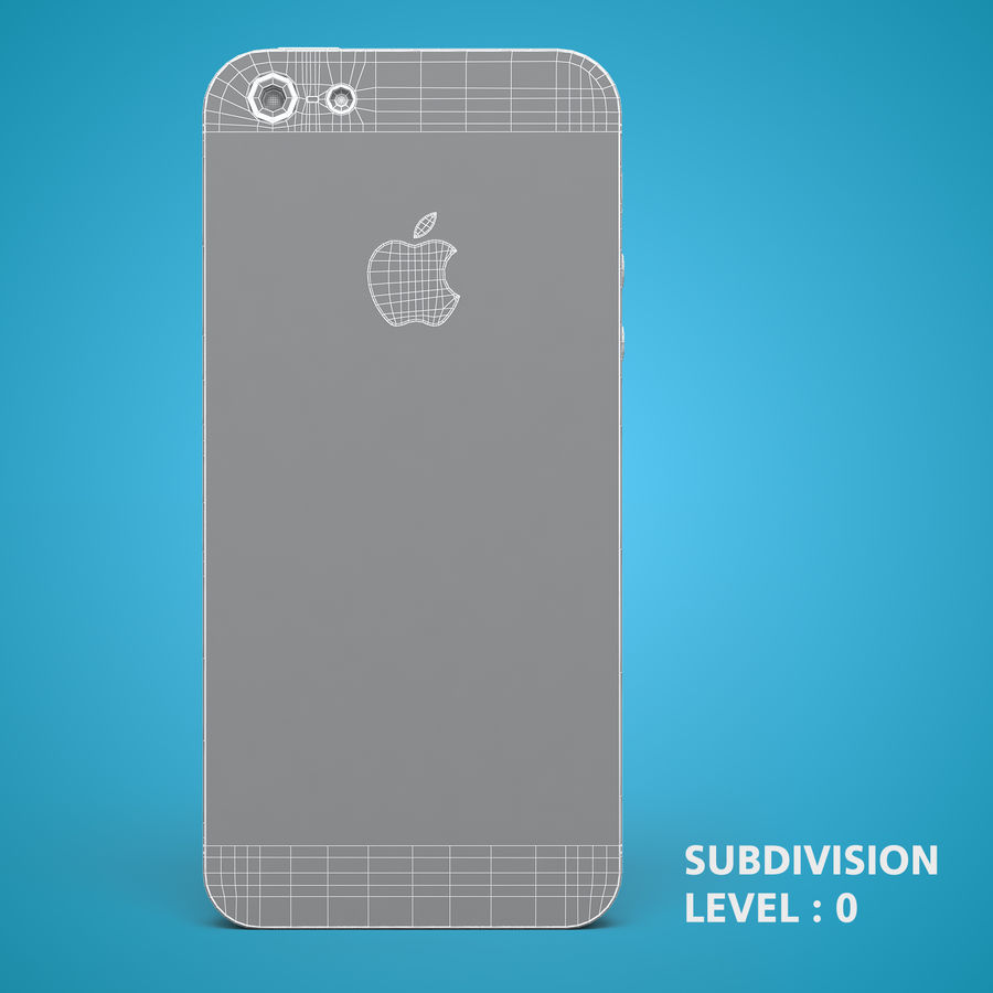 iphone 5 royalty-free 3d model - Preview no. 19