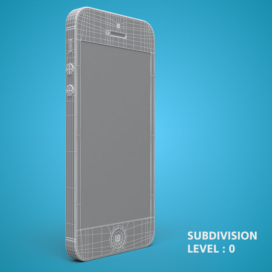 iphone 5 royalty-free 3d model - Preview no. 21