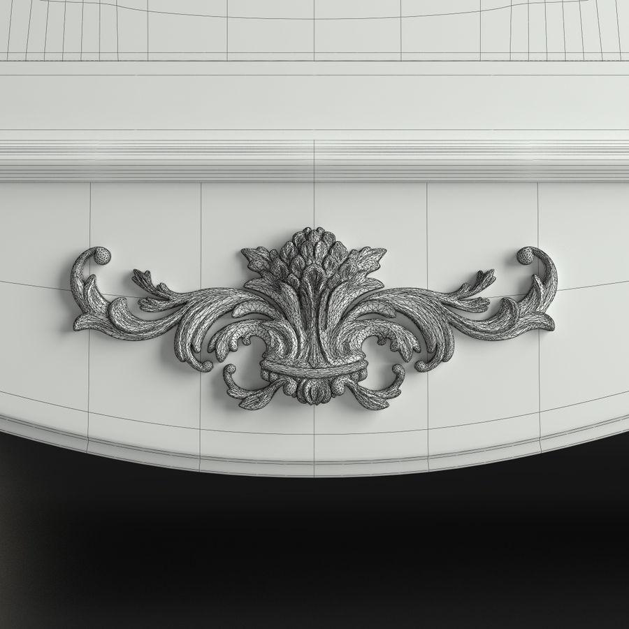 Üç Kapılı Armoire royalty-free 3d model - Preview no. 10