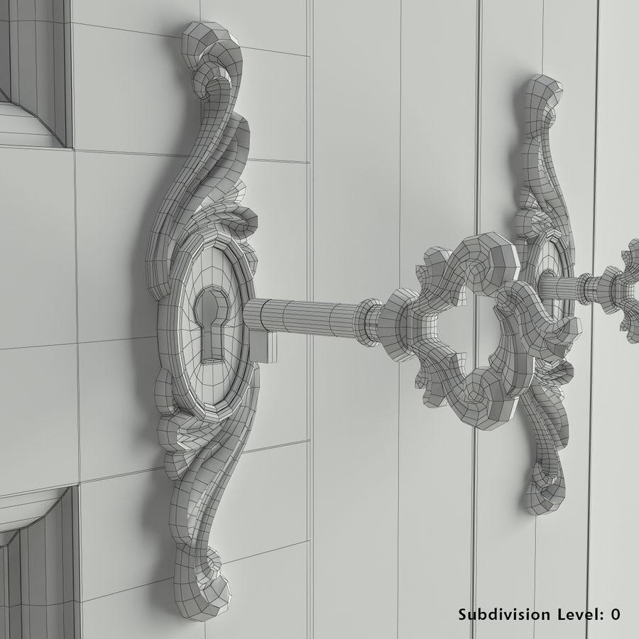 Üç Kapılı Armoire royalty-free 3d model - Preview no. 7