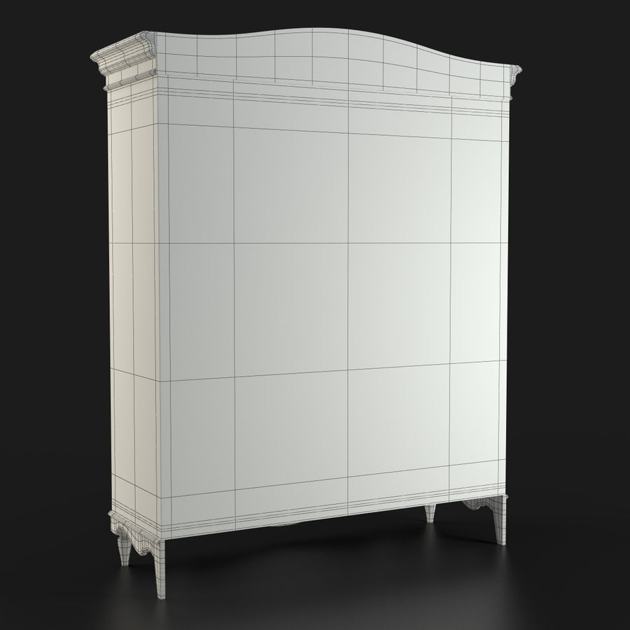 Üç Kapılı Armoire royalty-free 3d model - Preview no. 21