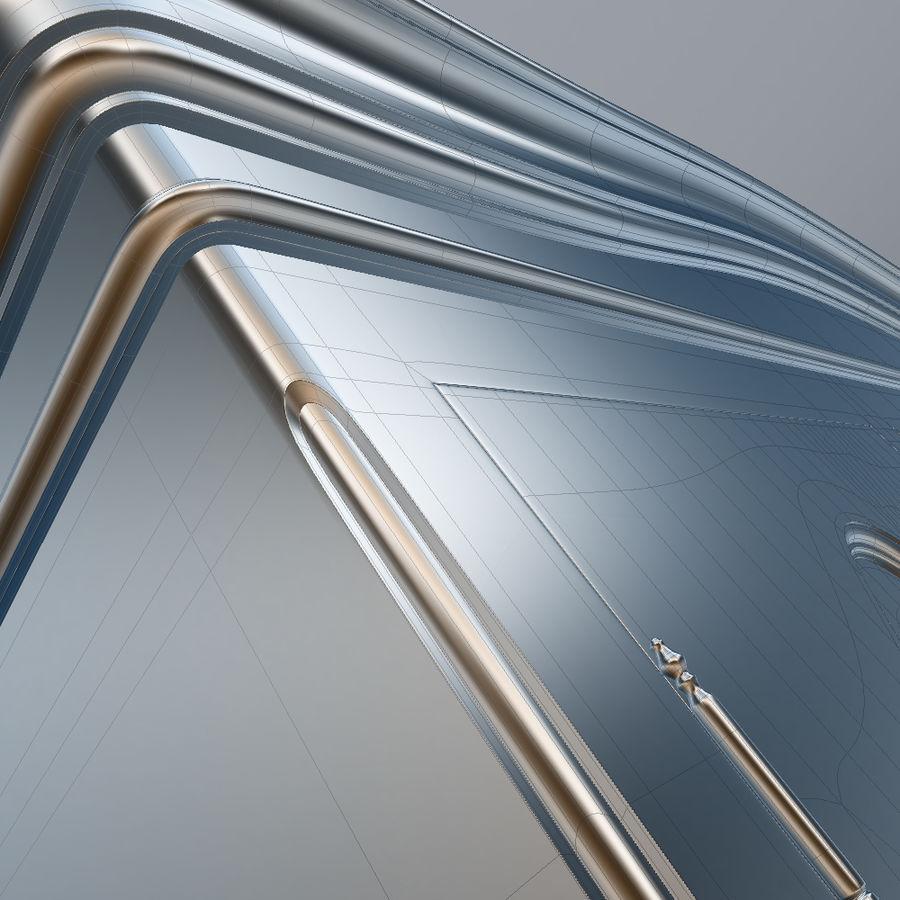 세 문 Armoire royalty-free 3d model - Preview no. 29