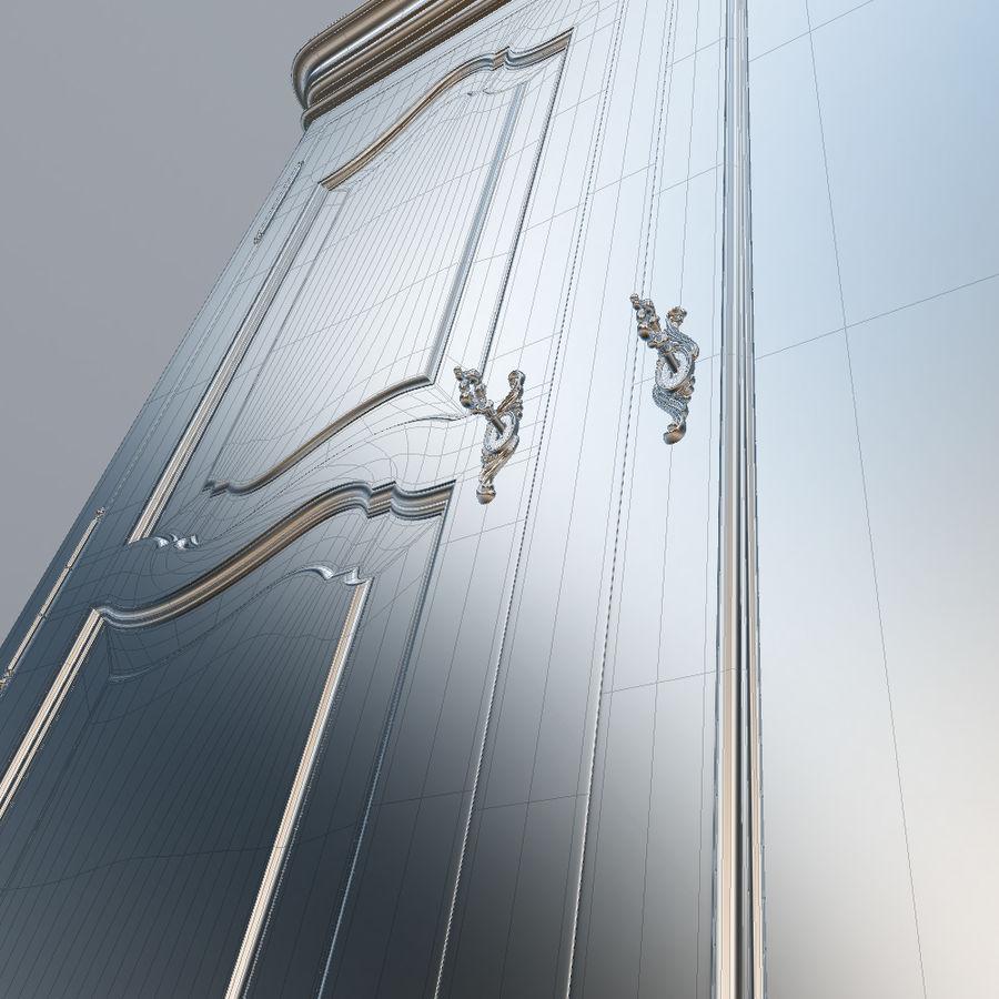 세 문 Armoire royalty-free 3d model - Preview no. 26
