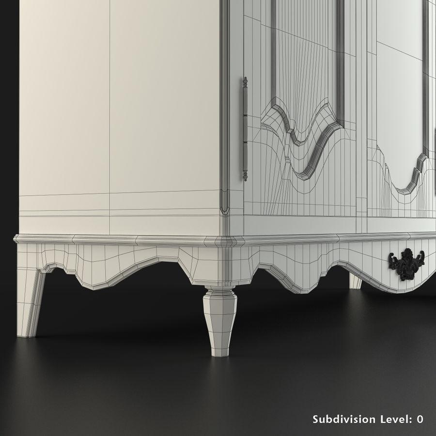 Üç Kapılı Armoire royalty-free 3d model - Preview no. 9