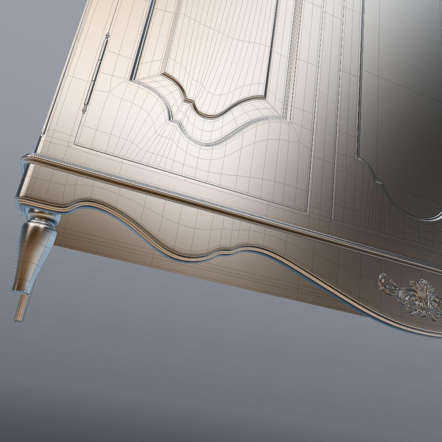 세 문 Armoire royalty-free 3d model - Preview no. 32