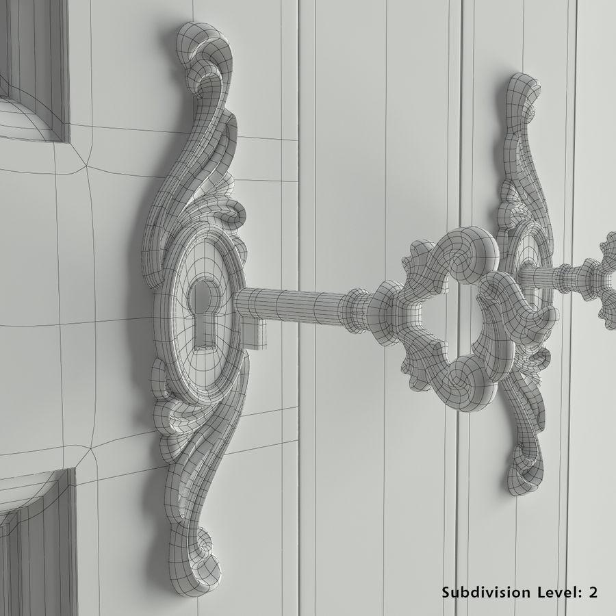 Üç Kapılı Armoire royalty-free 3d model - Preview no. 6