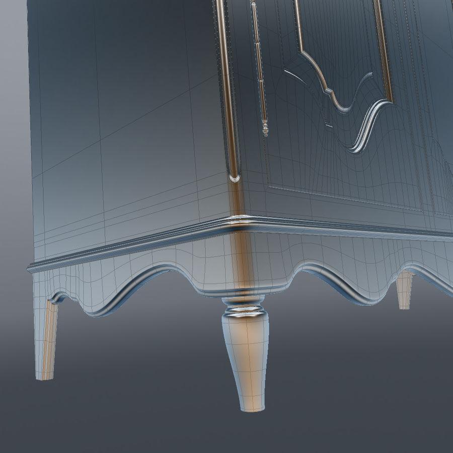 세 문 Armoire royalty-free 3d model - Preview no. 31