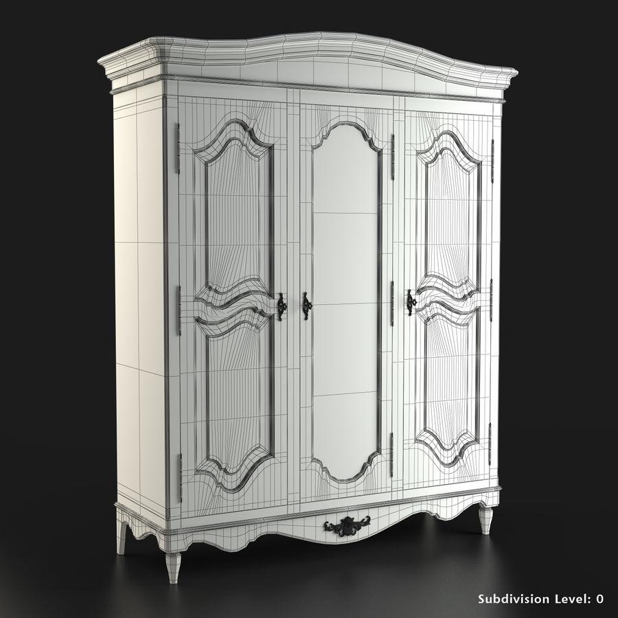 Üç Kapılı Armoire royalty-free 3d model - Preview no. 2