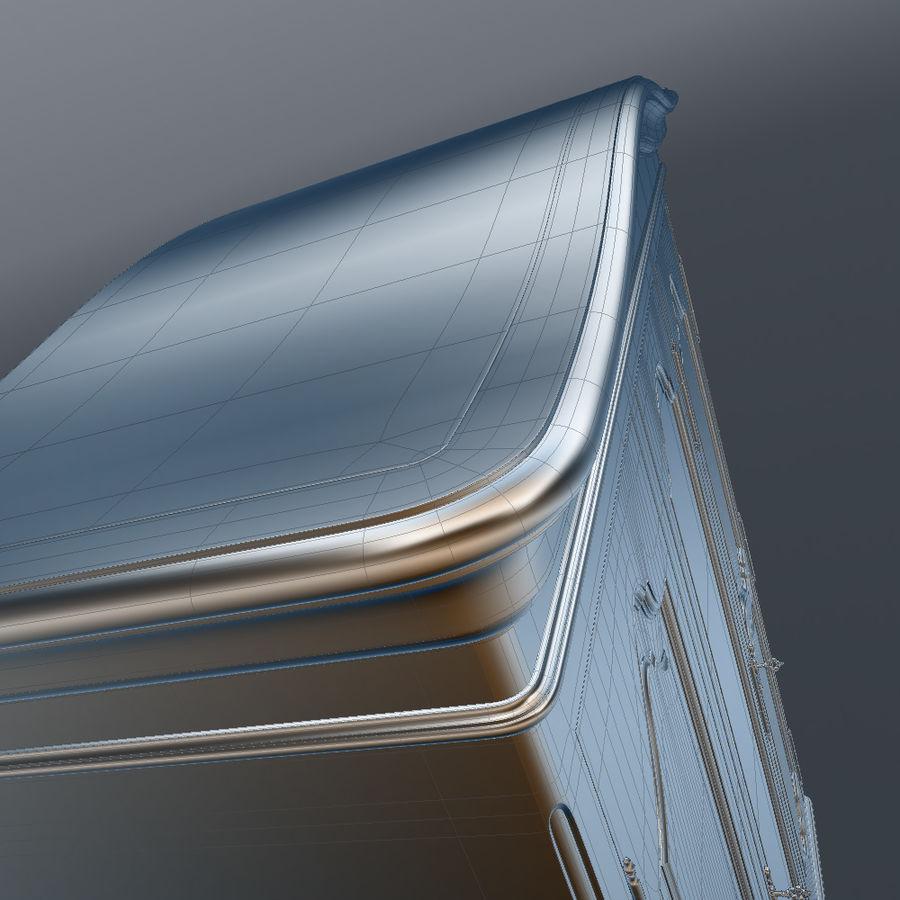 세 문 Armoire royalty-free 3d model - Preview no. 30
