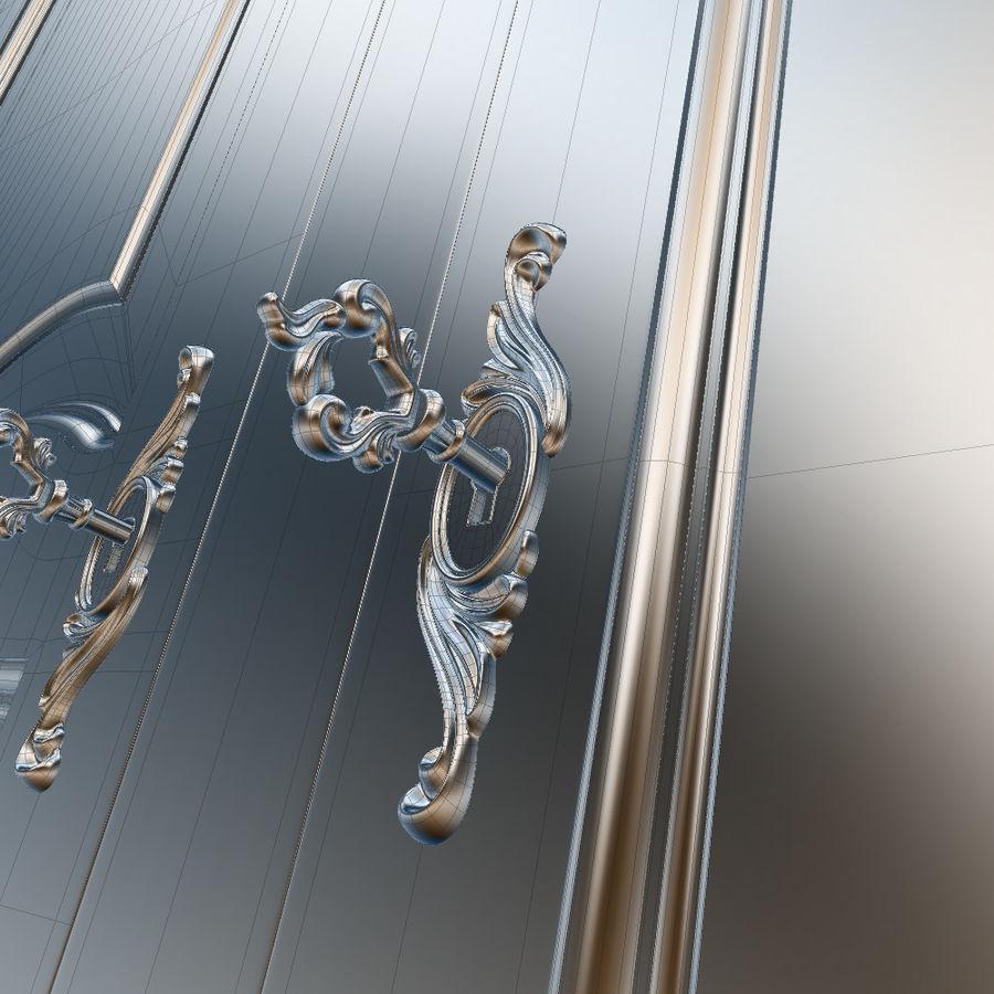 Üç Kapılı Armoire royalty-free 3d model - Preview no. 27