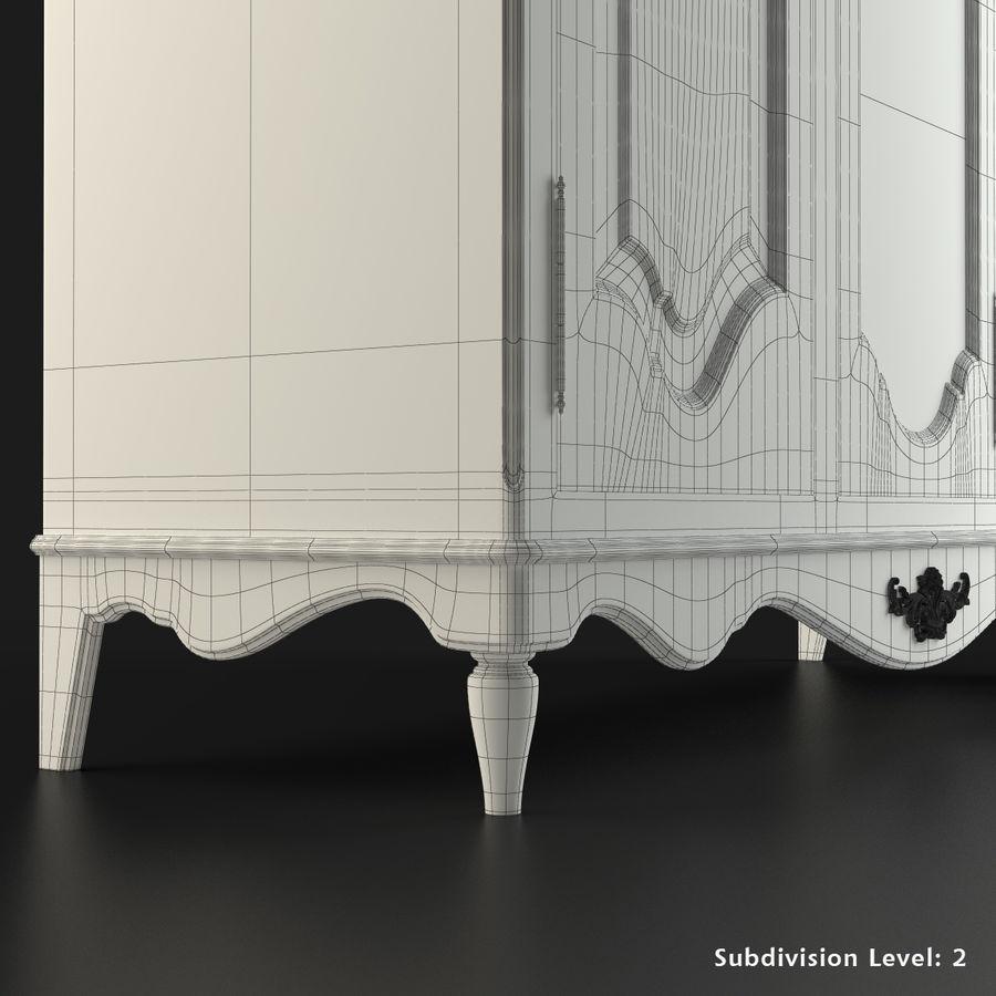 Üç Kapılı Armoire royalty-free 3d model - Preview no. 8