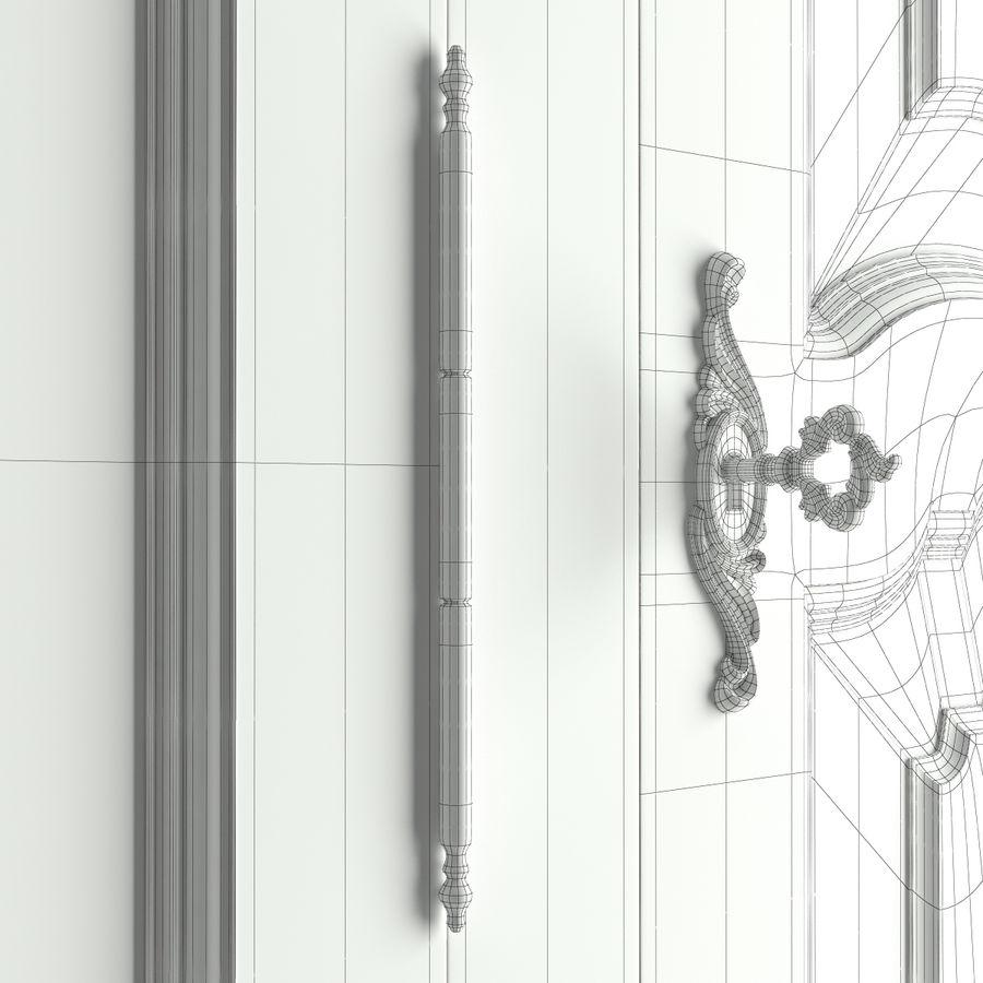 Üç Kapılı Armoire royalty-free 3d model - Preview no. 5
