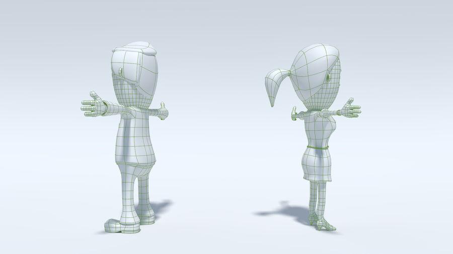 Kombipack für Jungen und Mädchen royalty-free 3d model - Preview no. 17